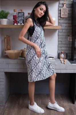 Dress Overall Parang Bw Batik Melati
